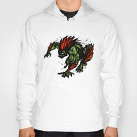 street fighter Hoodies featuring Blanka Rush! - Street Fighter by Peter Forsman