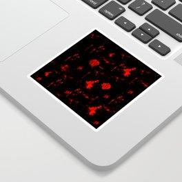 Red Paint / Blood splatter on black Sticker