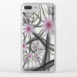 Flourish, Abstract Fractal Art Clear iPhone Case