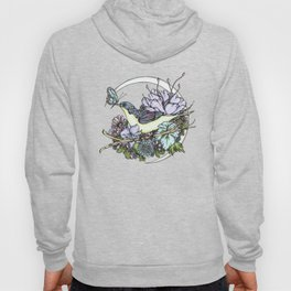 Bird and Butterfly Friendship in Pastel Hoody