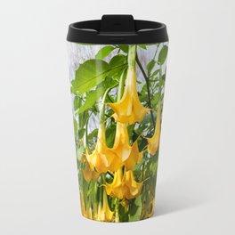 Big yellow Brugmansia called Angels Trumpets Travel Mug