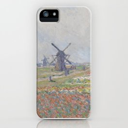 Tulip Fields near The Hague iPhone Case