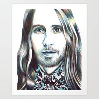 jared leto Art Prints featuring Jared Leto by ShayMacMorran