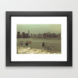 A Green Point Of View Framed Art Print