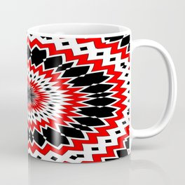 Bizarre Red Black and White Pattern Coffee Mug
