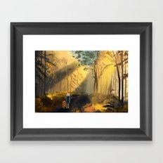 Let's Take a Walk Framed Art Print