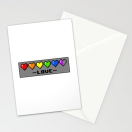 Love is Life: LGBT Pride Hearts Stationery Cards