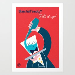 "Ministry of Optimistic Directives - ""Glass Half Empty?"" Art Print"