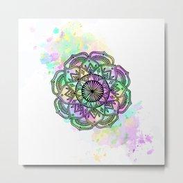 Mandala Rainbow Metal Print