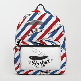Barber Shop Pattern Backpack
