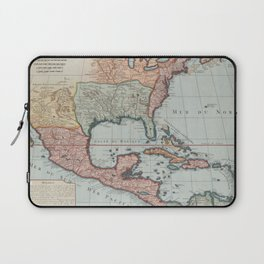 Vintage Map of The Gulf of Mexico (1732) Laptop Sleeve