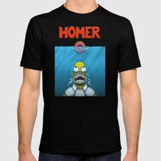HOMER SMALL Black Mens Fitted Tee