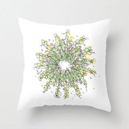 Wreath Illustration Throw Pillow