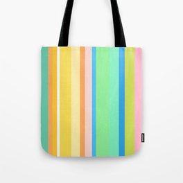 Springtime Stripes Tote Bag