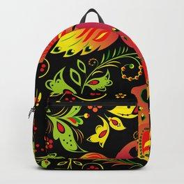 Fairy tale khokhloma bird Backpack