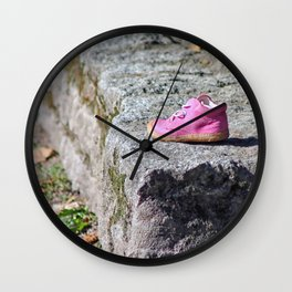 the lost shoe Wall Clock