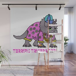Terrific Triceratops Wall Mural