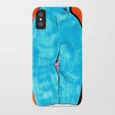 blue butt Slim Case iPhone X