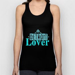 Detroit lover   Michigan logo Lettering Unisex Tank Top