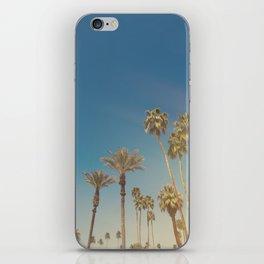 Palm Springs,California Palm Trees Sunburst iPhone Skin