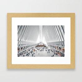 the oculus new york city Framed Art Print