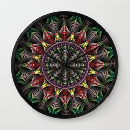Super Star, fractal abstract Wall Clock
