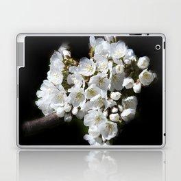 blossoms on black background -04- Laptop & iPad Skin