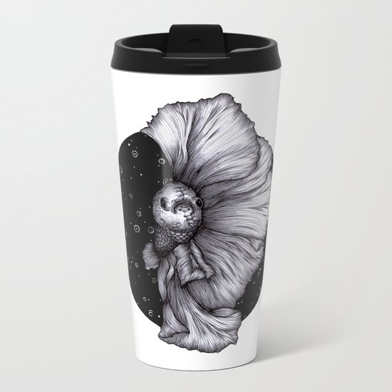 Fins like Fans Metal Travel Mug