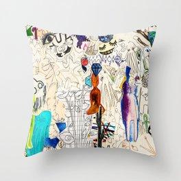 Collage 41 Throw Pillow