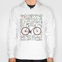 brompton Hoodies featuring Love Fixie Road Bike by Wyatt Design
