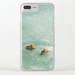 Jet Ski Friends in the Ocean | Paradise | Beach Mood | Aerial Photography | Ocean Print Clear iPhone Case