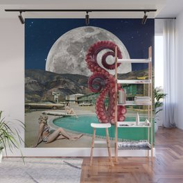 Octopus in the pool Wall Mural