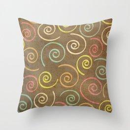 pattern grundgy swirls Throw Pillow