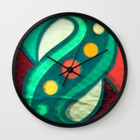 planets Wall Clocks featuring Planets by VessDSign