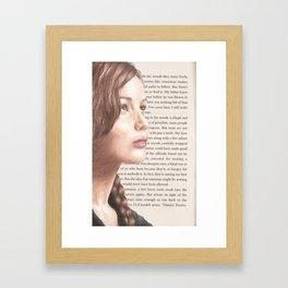 The Girl on Fire Framed Art Print