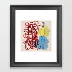 Something hard to say Framed Art Print