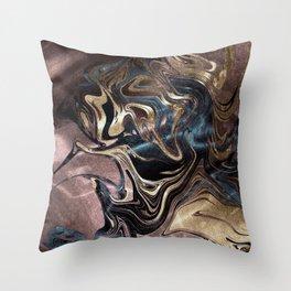 Deep Liquid Gold Throw Pillow