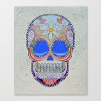 calavera Canvas Prints featuring Calavera by Jared Bretholtz