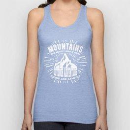 Mountains stamp print design Unisex Tank Top