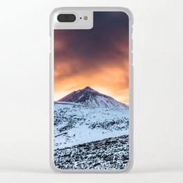 Golden hour sunset in Teide National Pak Clear iPhone Case