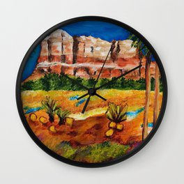 Courthouse Butte Rock, Sedona Arizona Wall Clock