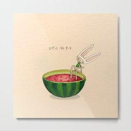 Watermelon Toki Metal Print