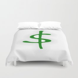 Shrinking Dollar Duvet Cover