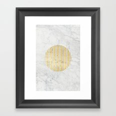 gOld sun Framed Art Print