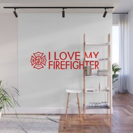 Firefighter: I Love My Firefighter (Florian Cross) Wall Mural