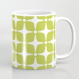 Mid Century Modern Star Pattern Chartreuse Green 2 Coffee Mug