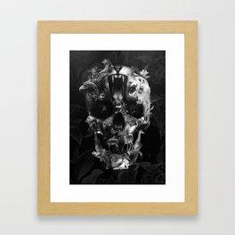 Kingdom Skull B&W Framed Art Print