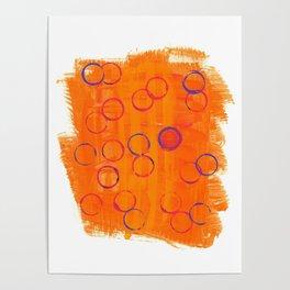 Playful Tangerine Poster
