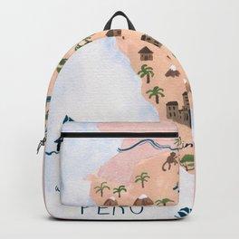 Peru Map Backpack