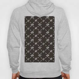 Floral Geometric Pattern Chocolate Brown Hoody